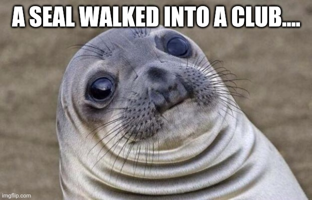 Awkward Moment Sealion |  A SEAL WALKED INTO A CLUB.... | image tagged in memes,awkward moment sealion | made w/ Imgflip meme maker