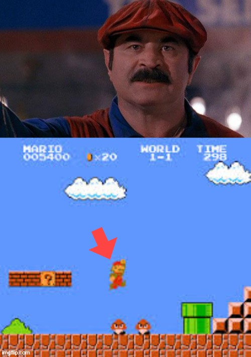 image tagged in super mario | made w/ Imgflip meme maker