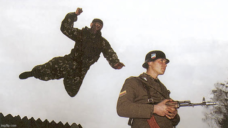 Soldier jump spetznaz | image tagged in soldier jump spetznaz | made w/ Imgflip meme maker