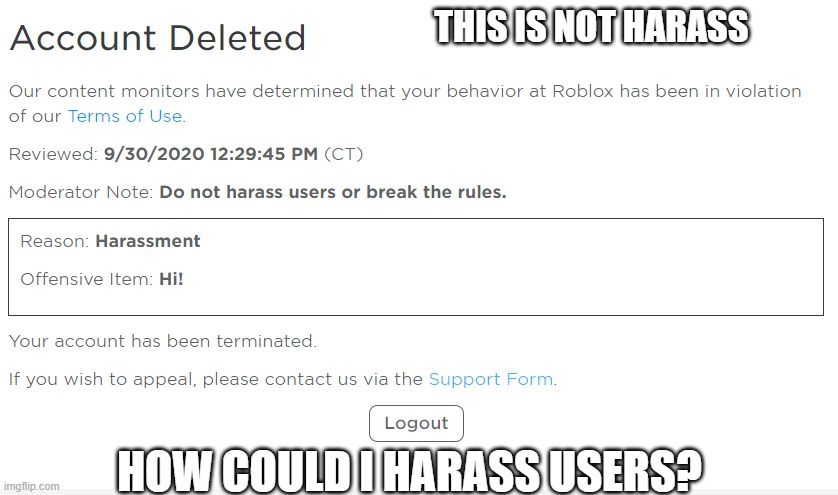 Banned From Roblox Memes Gifs Imgflip Banned From Roblox Memes Gifs Imgflip