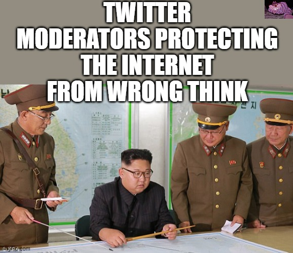 Never let someone tell you what you're allowed to read. |  TWITTER MODERATORS PROTECTING THE INTERNET FROM WRONG THINK | image tagged in lil kim | made w/ Imgflip meme maker