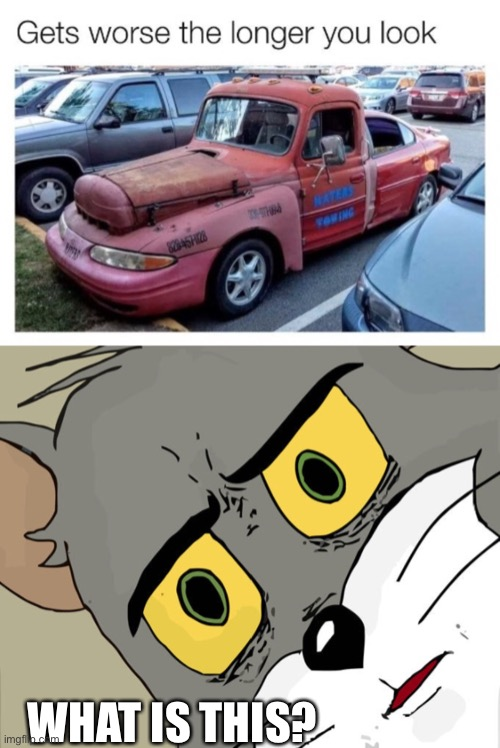 It's, like, three cars in one |  WHAT IS THIS? | image tagged in car | made w/ Imgflip meme maker