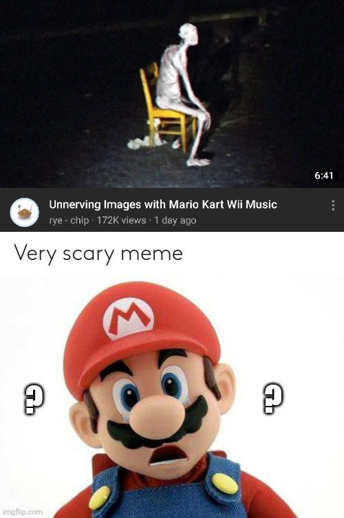BUT... WHY? |  ? ? | image tagged in mario kart,super mario bros,youtube,spooktober | made w/ Imgflip meme maker
