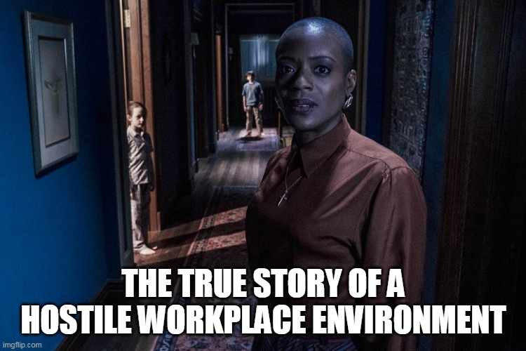 The True story of a Hostile Workplace environment |  THE TRUE STORY OF A HOSTILE WORKPLACE ENVIRONMENT | image tagged in the haunting of bly manor,hannah grose,miles wingrave,memes,workplace,flora wingrave | made w/ Imgflip meme maker