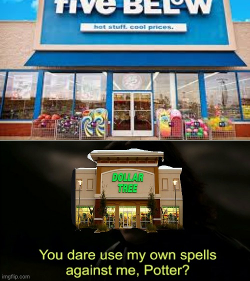 Dollar tree be like | image tagged in you dare use my own spells against me | made w/ Imgflip meme maker