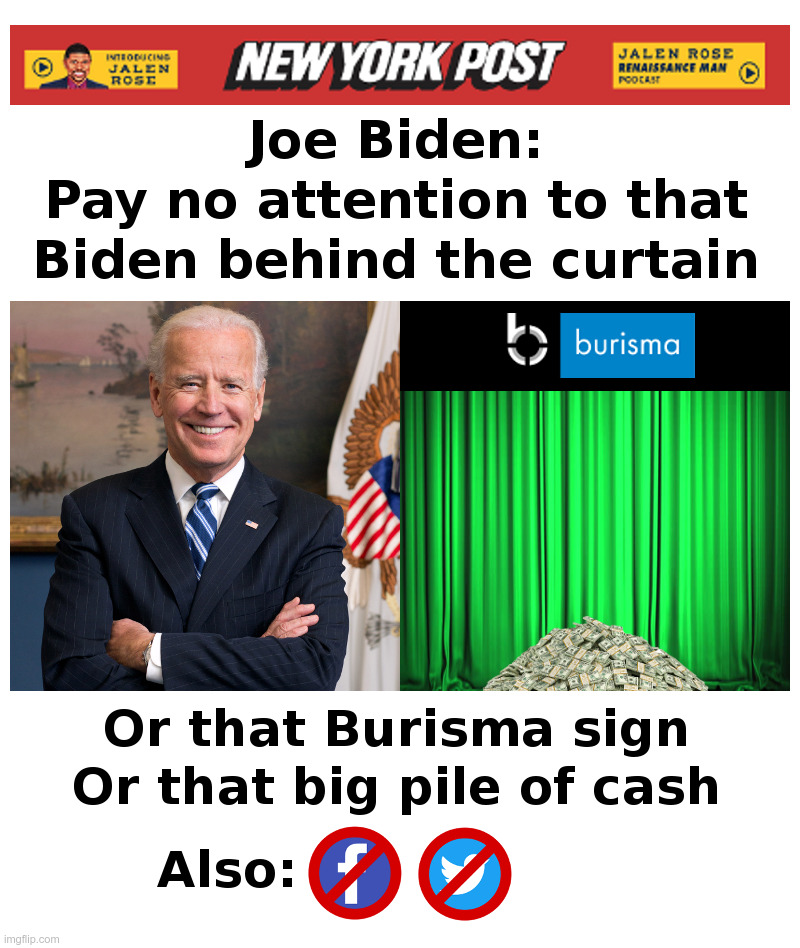 Joe Biden's Rules For Reporters | image tagged in joe biden,hunter biden,burisma,corruption,crooks,liars | made w/ Imgflip meme maker