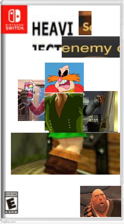 heavis enemy | image tagged in blank switch game,tf2 heavy | made w/ Imgflip meme maker