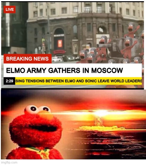 Elmo Russian Army | image tagged in blank white template,memes,elmo,elmo nuclear explosion | made w/ Imgflip meme maker