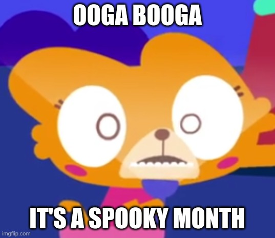 Spooky Lisa |  OOGA BOOGA; IT'S A SPOOKY MONTH | image tagged in spooky,2spooky4me,spooktober,spooky month,lingokids | made w/ Imgflip meme maker