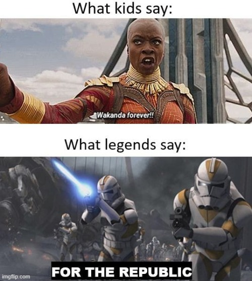 For the republic | image tagged in funny,star wars,avengers,marvel,dc comics,video games | made w/ Imgflip meme maker