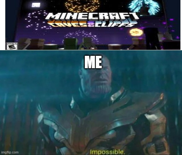 Impossible! |  ME | image tagged in thanos impossible | made w/ Imgflip meme maker