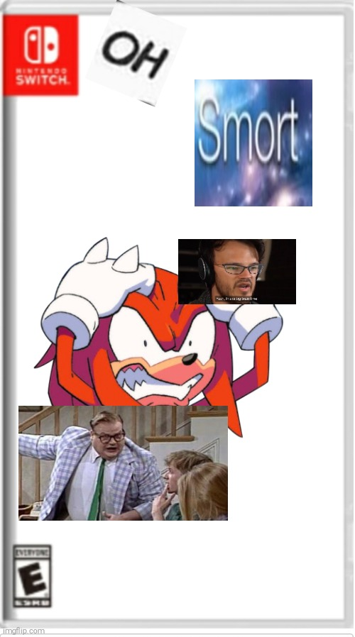 oh smort | image tagged in blank switch game,big brain | made w/ Imgflip meme maker