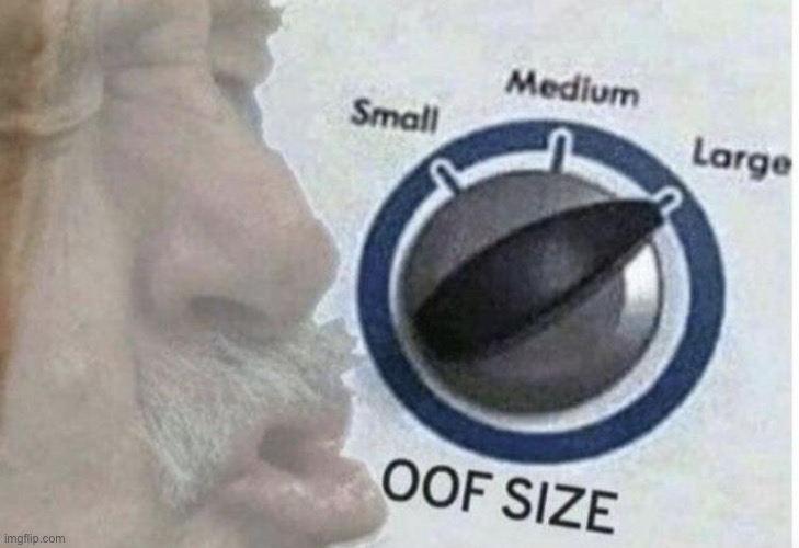 Oof size large | image tagged in oof size large | made w/ Imgflip meme maker