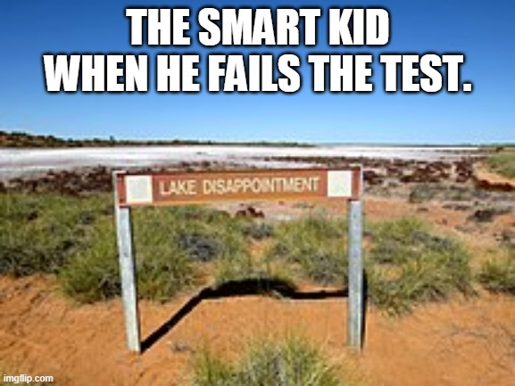 im very disappointed... |  THE SMART KID WHEN HE FAILS THE TEST. | image tagged in lake dissapointment,australia,dissapointed,asian,test | made w/ Imgflip meme maker
