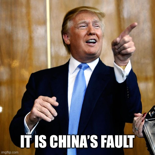 Donal Trump Birthday | IT IS CHINA'S FAULT | image tagged in donal trump birthday | made w/ Imgflip meme maker