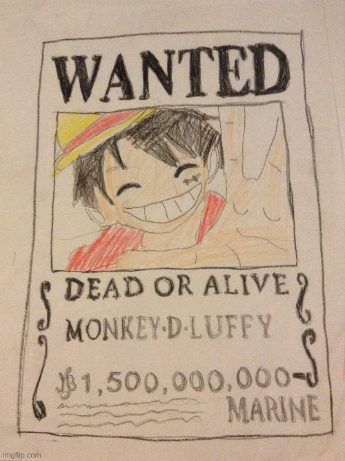 Random Luffy art that took me 2 hours to draw! | image tagged in anime,one piece,cool,drawn,fan art,stop reading the tags | made w/ Imgflip meme maker