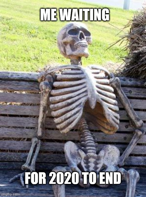 Waiting Skeleton |  ME WAITING; FOR 2020 TO END | image tagged in memes,waiting skeleton | made w/ Imgflip meme maker
