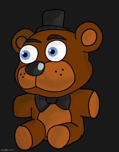 Freddy plush I drew real quick- | made w/ Imgflip meme maker