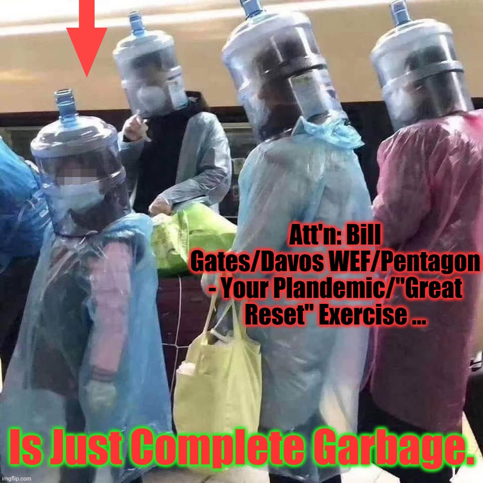 "They used this PLANDEMIC - to turn us all into "" 'Garbage' people"" 