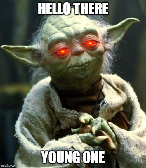 Star Wars Yoda |  HELLO THERE; YOUNG ONE | image tagged in memes,star wars yoda | made w/ Imgflip meme maker