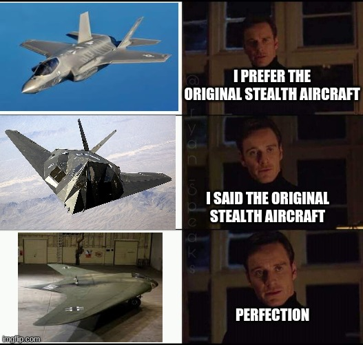 2006, 1983, 1945. |  I PREFER THE ORIGINAL STEALTH AIRCRAFT; I SAID THE ORIGINAL STEALTH AIRCRAFT; PERFECTION | image tagged in show me the real _____,ww2 | made w/ Imgflip meme maker