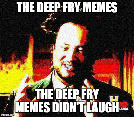 The deep fry memes |  THE DEEP FRY MEMES; THE DEEP FRY MEMES DIDN'T LAUGH | image tagged in deep fried,memes,xd,lol so funny,didntlaugh | made w/ Imgflip meme maker