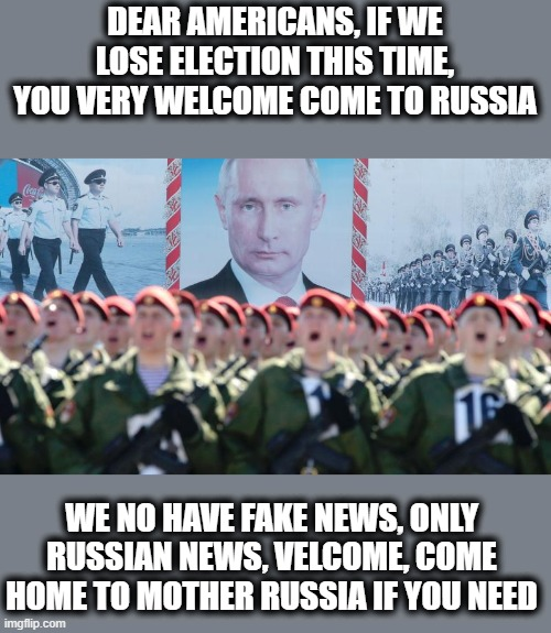 "Vlad may lose an asset and trump may lose his freedom. Lots at stake in this ""election"" 