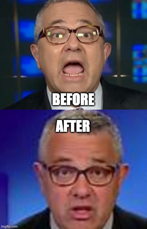 Caught Red-Handed 2: Loobin' with Toobin |  BEFORE; AFTER | image tagged in dnc,democrats,cnn | made w/ Imgflip meme maker