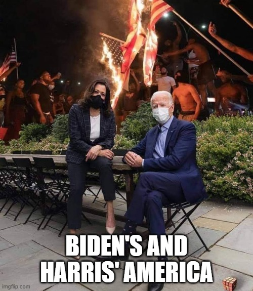 BIDEN'S AMERICA |  BIDEN'S AND HARRIS' AMERICA | image tagged in joe biden,biden,kamala harris,democrats | made w/ Imgflip meme maker