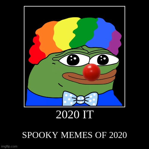 2020 IT | SPOOKY MEMES OF 2020 | image tagged in funny,demotivationals | made w/ Imgflip demotivational maker