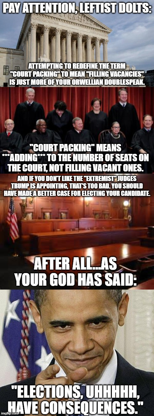 "Filling Vacancies IS NOT ""Packing The Court."" 