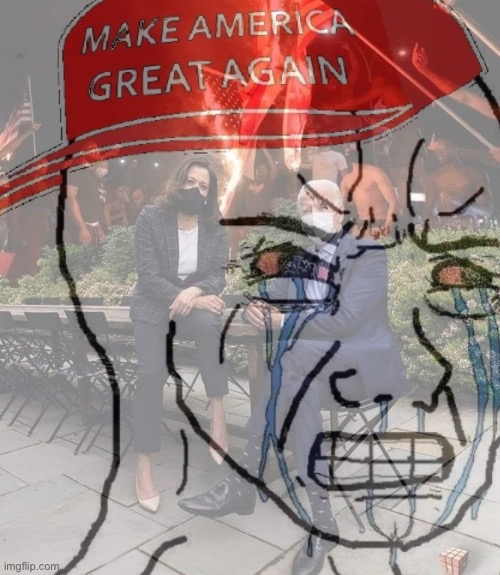Triggered MAGA wojak 2 | image tagged in triggered maga wojak 2,triggered,maga | made w/ Imgflip meme maker