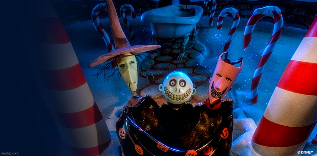 image tagged in nightmare before christmas lock shock barrel | made w/ Imgflip meme maker
