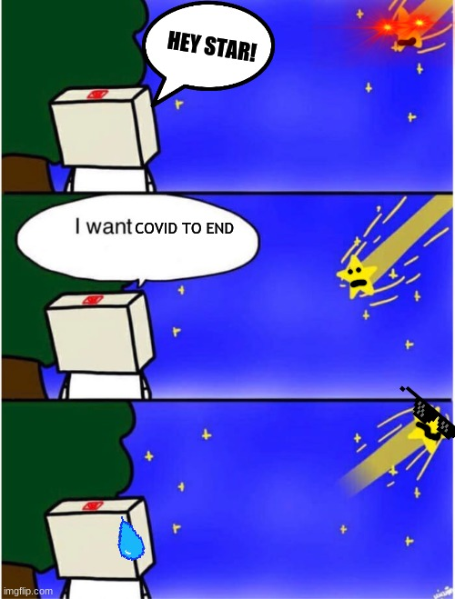 me wish is |  HEY STAR! COVID TO END | image tagged in shooting star,i wish | made w/ Imgflip meme maker