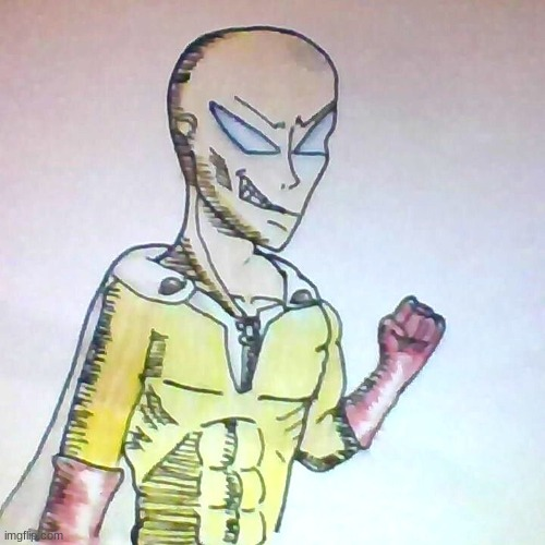 one punch man drawing | image tagged in one punch man,drawing | made w/ Imgflip meme maker