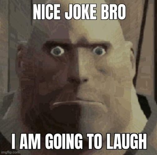 Nice joke bro, i am going to laugh | image tagged in nice joke bro i am going to laugh | made w/ Imgflip meme maker