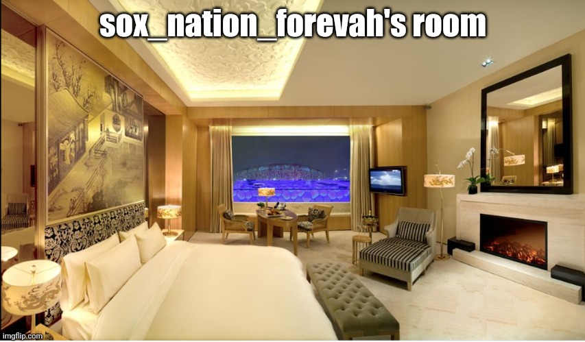 Hotel room |  sox_nation_forevah's room | image tagged in hotel room | made w/ Imgflip meme maker