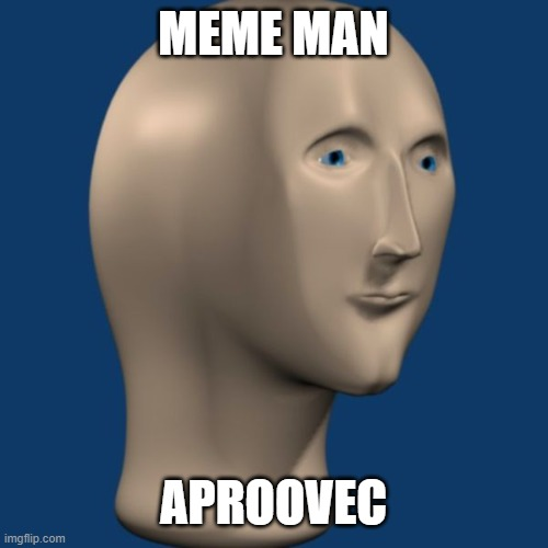 meme man | MEME MAN APROOVEC | image tagged in meme man | made w/ Imgflip meme maker