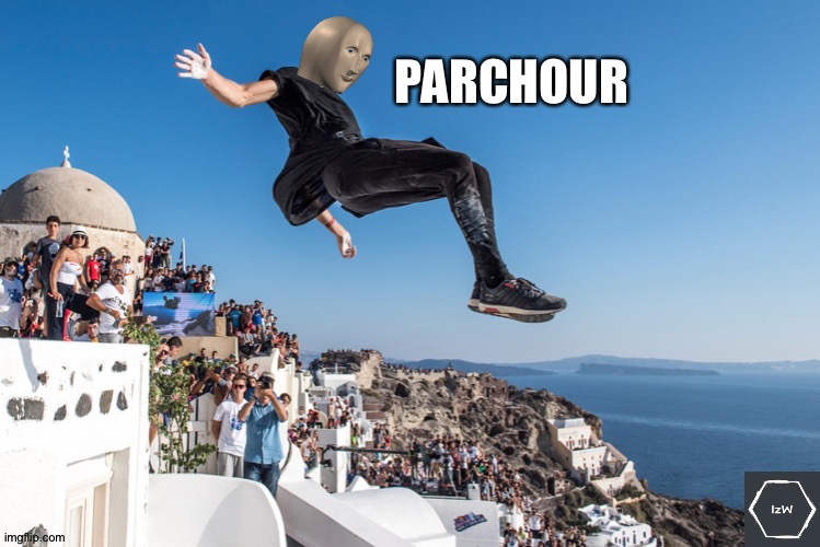 Meme Man's Parkour | image tagged in meme man s parkour | made w/ Imgflip meme maker