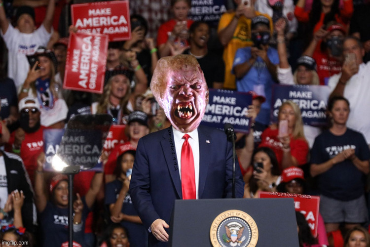 image tagged in trump,the thing,trump rally,donald trump the clown,alien,horror movie | made w/ Imgflip meme maker