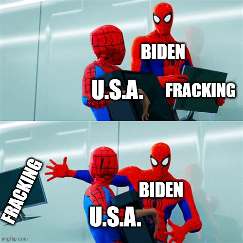The choice is clear. Vote for Trump 2020! Biden+Harris will ban fracking! They said it multiple times on camera!!! |  BIDEN; U.S.A. FRACKING; FRACKING; BIDEN; U.S.A. | image tagged in trump,fracking,biden,election 2020,trump 2020,america | made w/ Imgflip meme maker