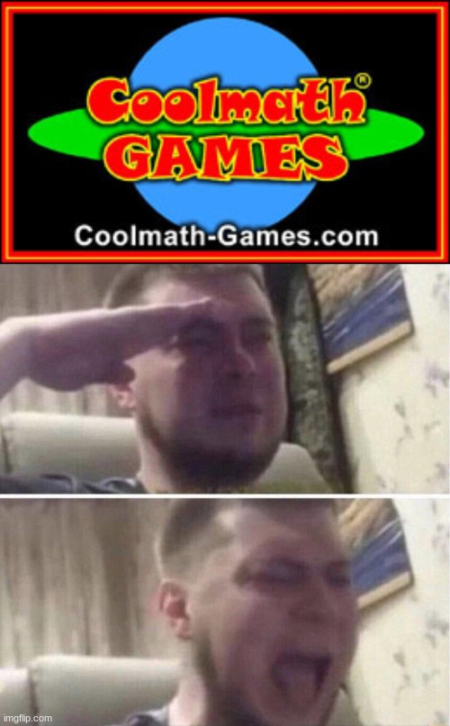 if you remember this you deserve a follow | image tagged in coolmathgames,nonstalgia,old,memes,funny,crying salute | made w/ Imgflip meme maker