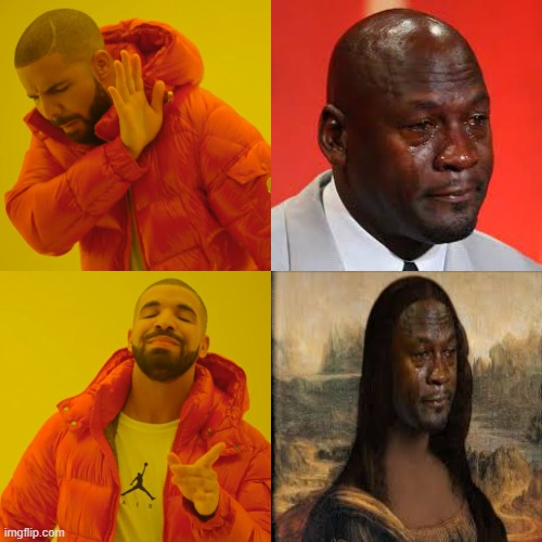 PRESS W TO SAY SORRY TO MICHAEL JORDAN | image tagged in memes,drake hotline bling | made w/ Imgflip meme maker