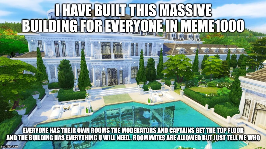 This is for the people in meme1000 we allow visitors but this is not a hotel | image tagged in meme1000 | made w/ Imgflip meme maker