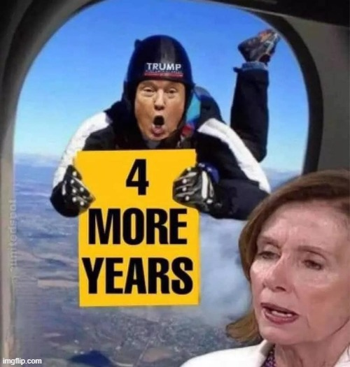 4 More Years | image tagged in president trump,nancy pelosi | made w/ Imgflip meme maker