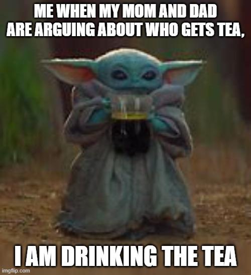 Baby Yoda Tea Meme Imgflip
