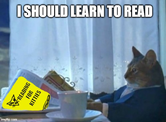 commeownication |  I SHOULD LEARN TO READ; READING FOR KITTIES | image tagged in memes,i should buy a boat cat | made w/ Imgflip meme maker