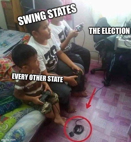 Election |  SWING STATES; THE ELECTION; EVERY OTHER STATE | image tagged in biden,trump,election,swing states | made w/ Imgflip meme maker