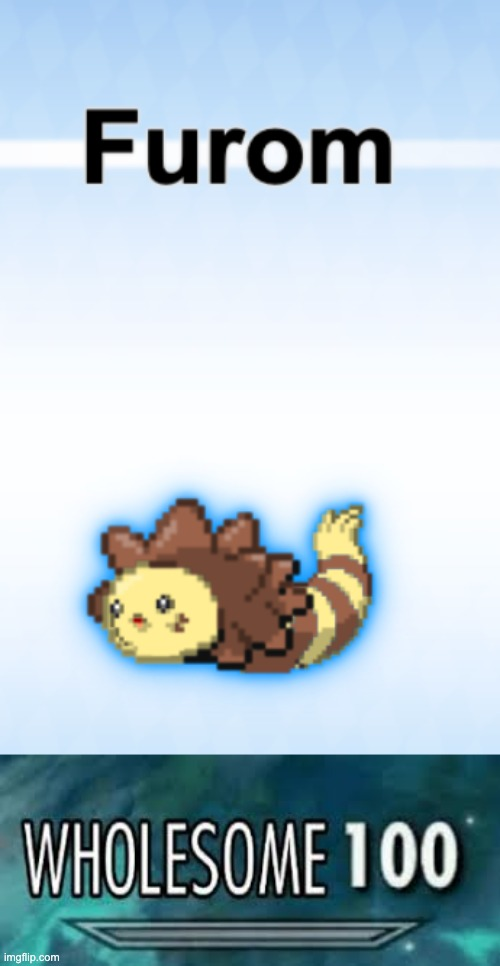 This would be a great pokemon to use. | image tagged in cute,wholesome,100,furret,snom,furom | made w/ Imgflip meme maker