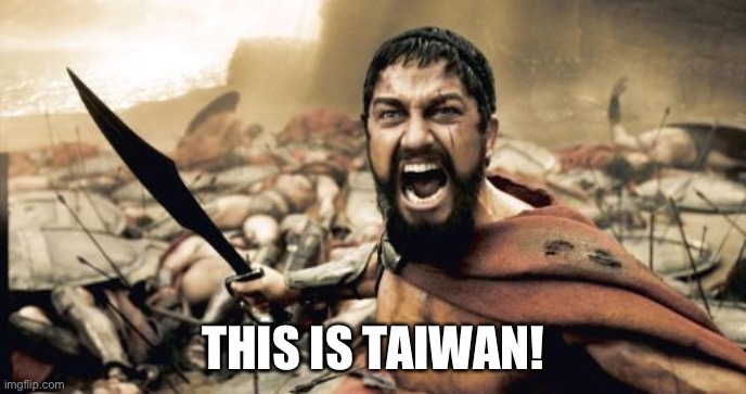 Sparta Leonidas Meme |  THIS IS TAIWAN! | image tagged in memes,sparta leonidas | made w/ Imgflip meme maker